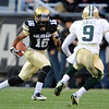 Will Jefferson of CU, runs against  Chance Casey of Baylor.<br /> Cliff Grassmick / October 16, 2010