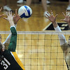 "Nikki Lindow, left, and Richi Bigelow of CU, try to stop Elizabeth Graham of Baylor.<br /> For more photos of the game, go to  <a href=""http://www.dailycamera.com"">http://www.dailycamera.com</a><br /> Cliff Grassmick / October 9, 2010"