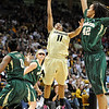 "Brittany Wilson of CU, puts up a shot on Brittney Griner of Baylor.<br /> For more photos of the game, go to  <a href=""http://www.dailycamera.com"">http://www.dailycamera.com</a>.<br /> Cliff Grassmick / March 5, 2011"