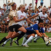 Nikki Marshall (17) of CU attacks the  the DU goal. <br /> Cliff Grassmick / September 4, 2009