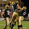 "Tyler Hanson (9) of CU celebrates his touchdown.<br /> For more photos from the game go to  <a href=""http://www.dailycamera.com"">http://www.dailycamera.com</a>.<br /> Cliff Grassmick / October 2, 2010"