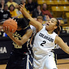 Bianca Smith (2) of CU Candice Ivy of Georgia Southern on Friday.<br /> <br /> Cliff Grassmick /November 27, 2009