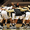 The Buffs get fired up before the game with Whitney Houston in the middle.<br /> <br /> Cliff Grassmick /November 28, 2009