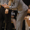 Kathy McConnell-Miller encourages the Buffs against Harvard.<br /> <br /> Cliff Grassmick /November 28, 2009