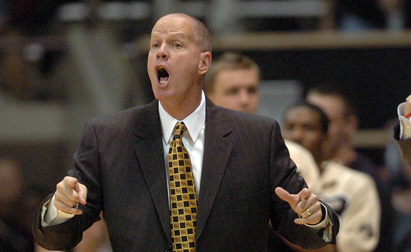 "Tad Boyle coaches his first game at the University of Colorado against Idaho State.<br /> For more photos of the game, go to  <a href=""http://www.dailycamera.com"">http://www.dailycamera.com</a><br /> Cliff Grassmick / November 12, 2010"