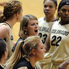 "Linda Lappe of Colorado talks to her team during a time out in the Illinois game.<br /> For more photos of the game, go to  <a href=""http://www.dailycamera.com"">http://www.dailycamera.com</a>.<br /> Cliff Grassmick / December 4, 2010"