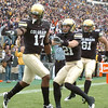 "Toney Clemons (17) Scotty McKnight and Luke Walters, celebrated Clemons'  TD catch against Iowa State.<br /> For more photos of the game, go to  <a href=""http://www.dailycamera.com"">http://www.dailycamera.com</a><br /> Cliff Grassmick / November 13, 2010"