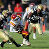"Jalil Brown, right, of CU, puts a hit on Darius Darks of Iowa State.<br /> For more photos of the game, go to  <a href=""http://www.dailycamera.com"">http://www.dailycamera.com</a><br /> Cliff Grassmick / November 13, 2010"
