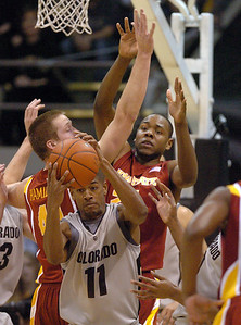 Cory Higgins  of CU on the rebound against ISU. For more  photos of the game, go to www.dailycamera.com. Cliff Grassmick / February 27, 2010