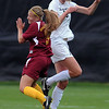 "Susie Potterveld, left, of Iowa State, and Lizzy Herzl of CU, meet at the ball on a header on Sunday.<br /> For more photos of the game, go to  <a href=""http://www.dailycamera.com"">http://www.dailycamera.com</a>.<br /> Cliff Grassmick / October 10, 2010"