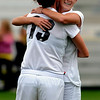 "Shaye Marshall, right, of CU,   hugs Kate Russell after her goal against Iowa State. <br /> For more photos of the game, go to  <a href=""http://www.dailycamera.com"">http://www.dailycamera.com</a>.<br /> Cliff Grassmick / October 10, 2010"