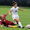 "Amanda Foulk of CU,  runs through Jessica Stewart of ISU, to get to the ball.<br /> For more photos of the game, go to  <a href=""http://www.dailycamera.com"">http://www.dailycamera.com</a>.<br /> Cliff Grassmick / October 10, 2010"