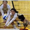"""Elysse Richardson of CU gigs out the ball against Iowa State.<br /> For more photos of the game, go to  <a href=""""http://www.dailycamera.com"""">http://www.dailycamera.com</a><br /> Cliff Grassmick / October 20, 2010"""