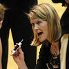 """CU coach Linda Lappe during a timeout at the Iowa State game.<br /> For more photos of the game, go to  <a href=""""http://www.dailycamera.com"""">http://www.dailycamera.com</a>.<br /> Cliff Grassmick / January 15, 2011"""