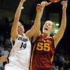 Megan Malcolm-Peck, left of CU, and Anna Prins of Iowa State, collide on a rebound. Prins played at Broomfield High last year.<br /> Cliff Grassmick / January 16, 2010