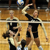 "Nikki Lindow (15) of Colorado tries to get the ball past Kaitlyn Pelger  of Kansas State on Wednesday.<br /> For more photos from the game, go to  <a href=""http://www.dailycamera.com"">http://www.dailycamera.com</a>.<br />  Cliff Grassmick / September 22, 2010"