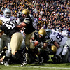 University of Colorado's Rodney Stewart scores a touchdown during the game against Kansas State at Folsom Field on Saturday. CU beat Kansas State 44-36.<br /> Saturday, Nov.  20, 2010. <br /> SAM HALL / Camera