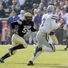 "Josh Hartigan of CU runs down Collin Klein of KSU.<br /> For more photos of the game, go to  <a href=""http://www.dailycamera.com"">http://www.dailycamera.com</a>.<br /> Cliff Grassmick / November 20, 2010"