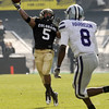 "Rodney Stewart of CU throws a TD catch against KSU.<br /> For more photos of the game, go to  <a href=""http://www.dailycamera.com"">http://www.dailycamera.com</a>.<br /> Cliff Grassmick / November 20, 2010"