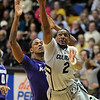 "Shannon Sharpe of CU  drives in to score against KSU.<br /> For more photos of the CU game, go to  <a href=""http://www.dailycamera.com"">http://www.dailycamera.com</a>.<br /> Cliff Grassmick / February 12, 2011"