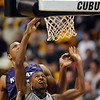 Cory Higgins of CU puts in a lay up late in the KSU game on Saturday.<br /> <br /> Cliff Grassmick / January 16, 2010