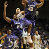 Jamar Samuels of KSU, tries to control a loose ball against CU on Saturday.<br /> Cliff Grassmick / January 16, 2010