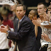 Colorado coach Jeff Bzdelik encourages his team against Kansas State.<br /> <br /> Cliff Grassmick / January 16, 2010