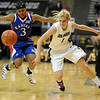 Alyssa Fressle of Colorado gets a steal from Rhea Codio of Kansas.<br /> Cliff Grassmick / February 16, 2010