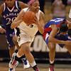 Chucky Jeffery of Colorado starts the fast break against Kansas Tuesday night.<br /> Cliff Grassmick / February 16, 2010