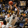 Alec Burks of Colorado scores against Missouri in the 84 to 66 loss to the Tigers.<br /> Cliff Grassmick / February 6, 2010