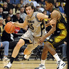 Keegan Hornbuckle of Colorado drives past Kim English of Missouri on Saturday.<br /> Cliff Grassmick / February 6, 2010