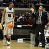 Alec Burks gets coaching from Jeff Bzdelik against Missouri on Saturday.<br /> Cliff Grassmick / February 6, 2010