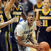 "Alec Burks of CU battles under the basket against Justin Safford, among other  Missouri players.<br /> For more photos of the game, go to  <a href=""http://www.dailycamera.com"">http://www.dailycamera.com</a>.<br /> Cliff Grassmick / January 8, 2011"