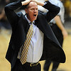 "CU coach, Tad Boyle, reacts to a call in the Missouri game.<br /> For more photos of the game, go to  <a href=""http://www.dailycamera.com"">http://www.dailycamera.com</a>.<br /> Cliff Grassmick / January 8, 2011"
