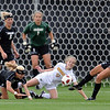 """Kelly Ross, right, of CU, gets the ball out of the goal area in front of Krista Kruse of Missouri.<br /> For more photos of the game, go to  <a href=""""http://www.dailycamera.com"""">http://www.dailycamera.com</a><br /> Cliff Grassmick / October 8, 2010"""