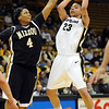Chucky Jeffery of CU shoots over Jessra Johnson of Missouri.<br /> Cliff Grassmick / January 9, 2010