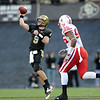 Tyler Hansen of CU gets a pass off against Nebraska.<br /> <br /> Cliff Grassmick /November 27, 2009