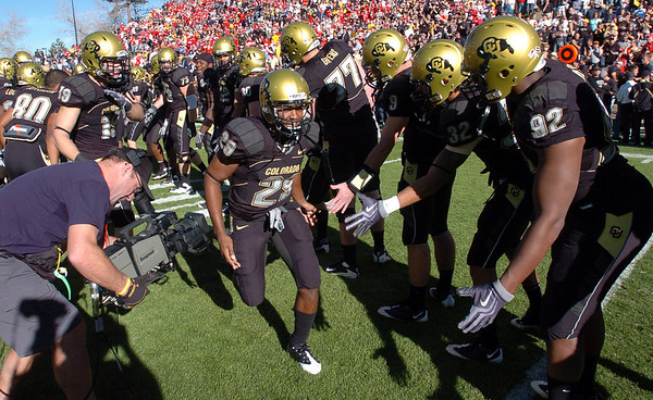 Ca'pelle Brown was one of the CU seniors playing in their last game as a Buff.<br /> <br /> Cliff Grassmick /November 27, 2009