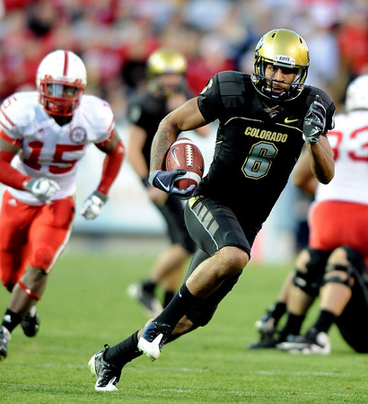 Markquez Simas had a big day against Nebraska on Friday.<br /> <br /> Cliff Grassmick /November 27, 2009