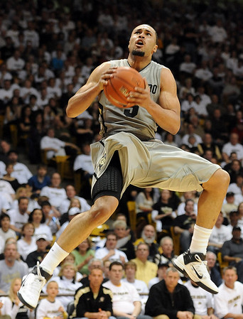 """Marcus Relphorde of Colorado against Nebraska.<br /> For more photos of the game, go to  <a href=""""http://www.dailycamera.com"""">http://www.dailycamera.com</a>.<br /> Cliff Grassmick / March 5, 2011"""