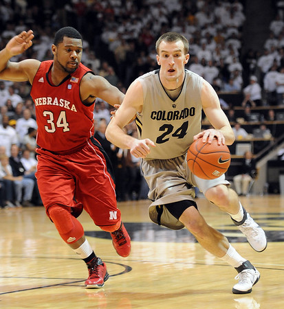 "Levi Knutson of Colorado against Nebraska.<br /> For more photos of the game, go to  <a href=""http://www.dailycamera.com"">http://www.dailycamera.com</a>.<br /> Cliff Grassmick / March 5, 2011"