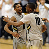"Cory Higgins and Alec Burks, celebrate the Nebraska win.<br /> For more photos of the game, go to  <a href=""http://www.dailycamera.com"">http://www.dailycamera.com</a>.<br /> Cliff Grassmick / March 5, 2011"