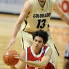 Christian Standhardinger of Nebraska gets the ball away while Shane Harris-Tunks of CU defends.<br /> Cliff Grassmick / January 27, 2010