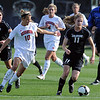 Erin Bricker (11) of Colorado takes the ball down the field against Nebraska.<br /> Cliff Grassmick / September 25, 2009