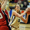 Julie Seabrook of CU looks to shoot over Cory Montgomery of Nebraska.<br /> Cliff Grassmick / January 30, 2010