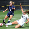 "Carly Bolyard (12) of Colorado, tries to get the ball away from Janelle Kramer of Northern Colorado.<br /> For more photos of the game, go to  <a href=""http://www.dailycamera.com"">http://www.dailycamera.com</a><br /> Cliff Grassmick / August 21, 2011"
