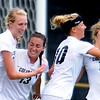 "Lizzy Herzl, left, Kate Russell, Amy Barczuk and Lauren Shaner of Colorado, celebrate Russell's goal against UNC.<br /> For more photos of the game, go to  <a href=""http://www.dailycamera.com"">http://www.dailycamera.com</a><br /> Cliff Grassmick / August 21, 2011"