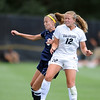 "Kimmie Feidler, left, of UNC, and Carly Bolyard of CU  go up for the ball on Sunday<br /> For more photos of the game, go to  <a href=""http://www.dailycamera.com"">http://www.dailycamera.com</a><br /> Cliff Grassmick / August 21, 2011"