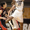 Brittany Spears rebounds against S. Utah.<br /> <br /> Cliff Grassmick / December 19, 2009