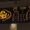 The half time score against Southern Utah.<br /> <br /> Cliff Grassmick / December 19, 2009